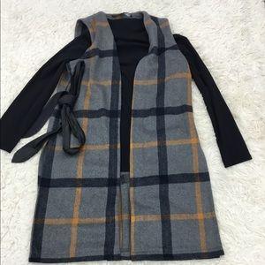 HyFVE Gray&Mustard Wood Blend Duster Vest